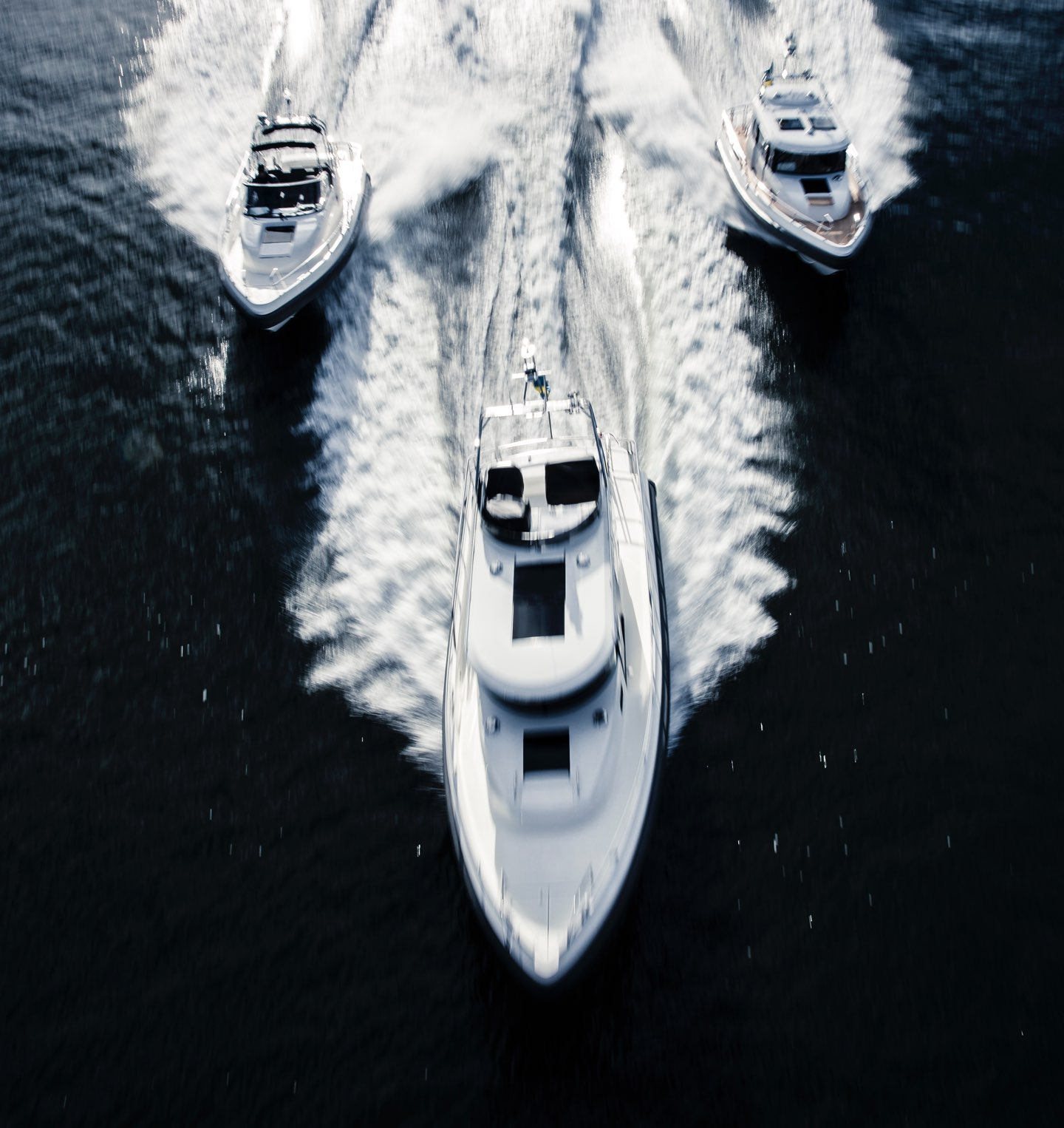 3 Paragon Yachts boats on the sea