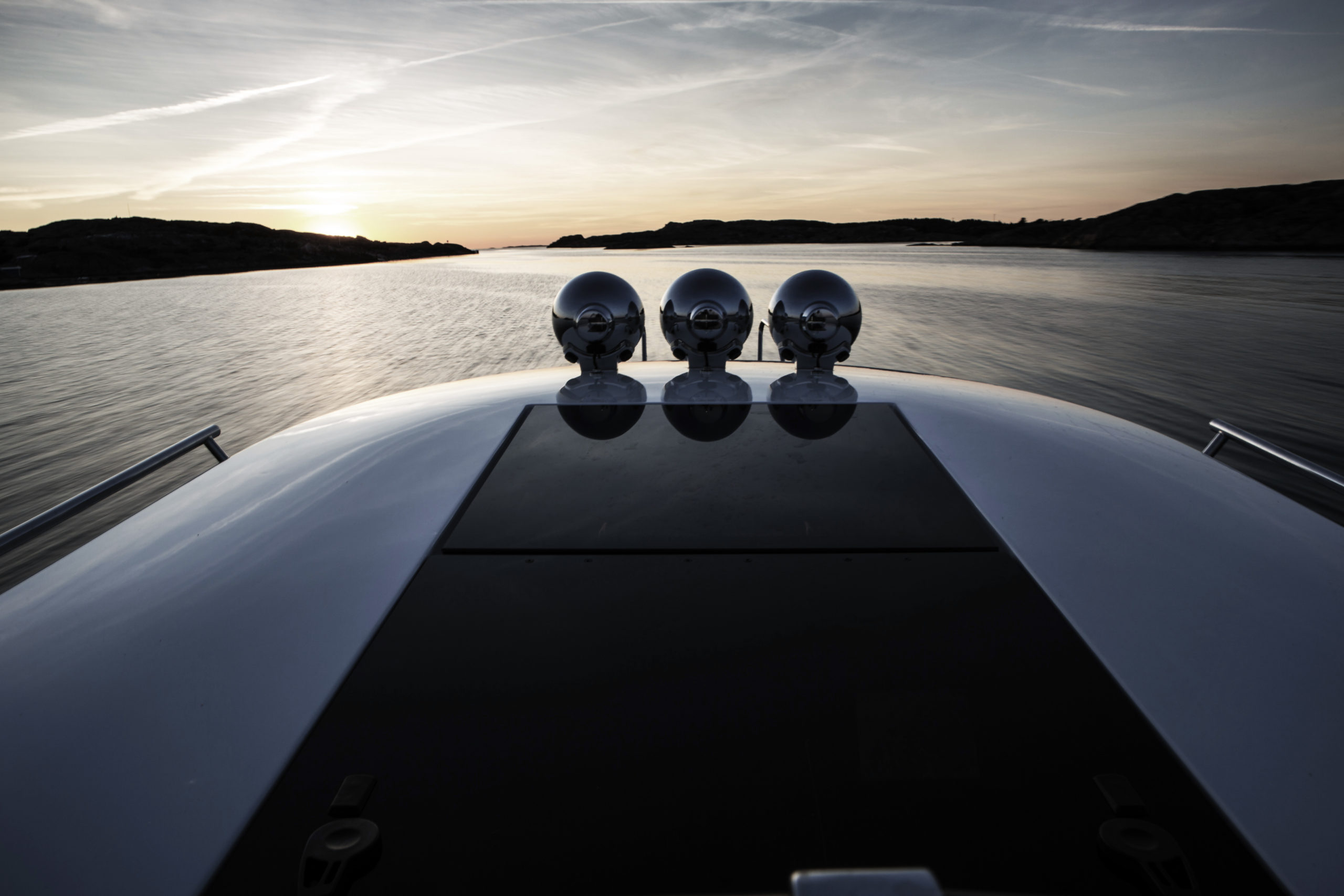 Paragon Motorboat in the sunset
