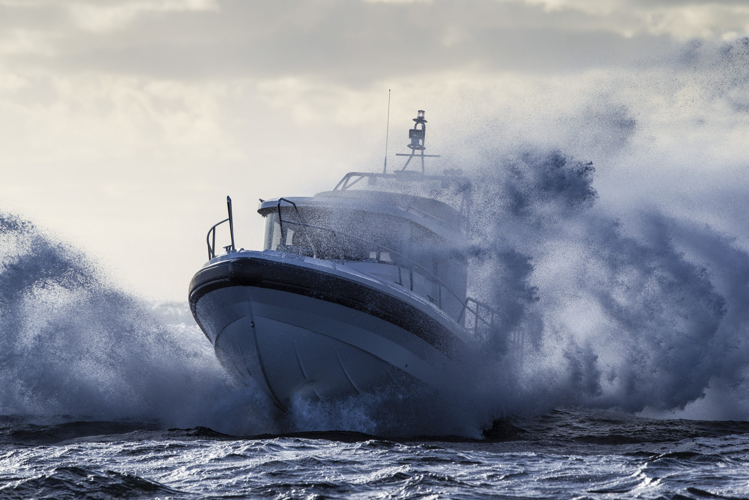 Paragon Yacht in action on the sea
