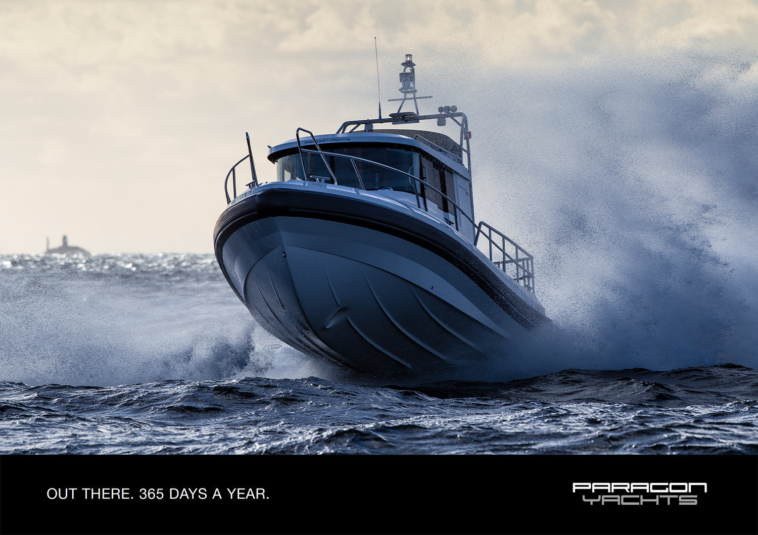 Paragon Yachts boat on the sea, the winner of motorboat awards 2016